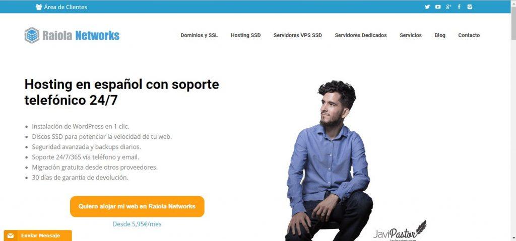Raiola Networks servidor profesional