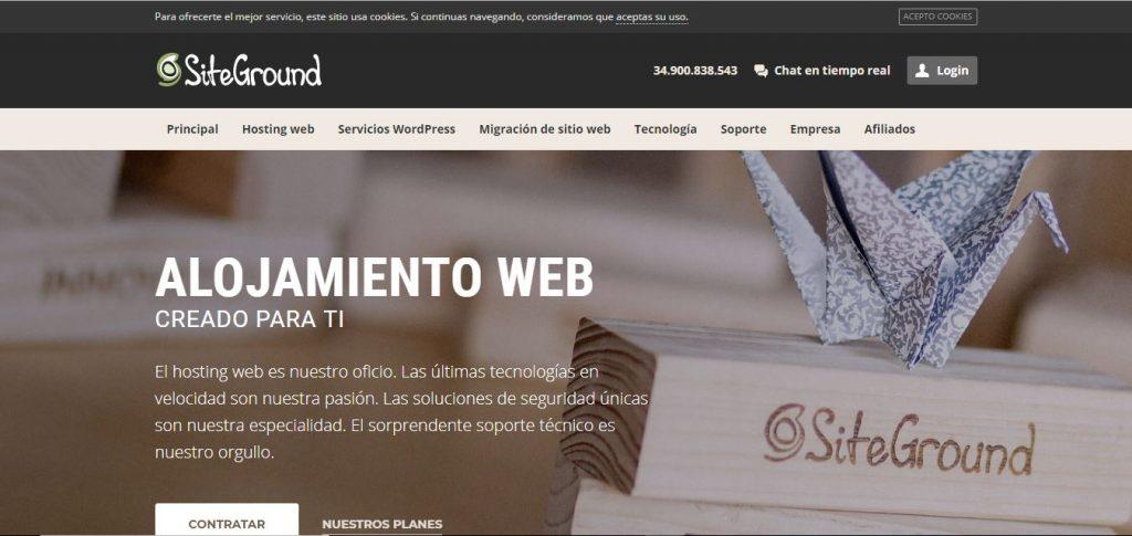 SiteGround servidor profesional