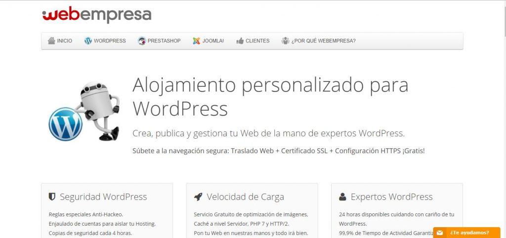 Servidor profesional Webempresa en España